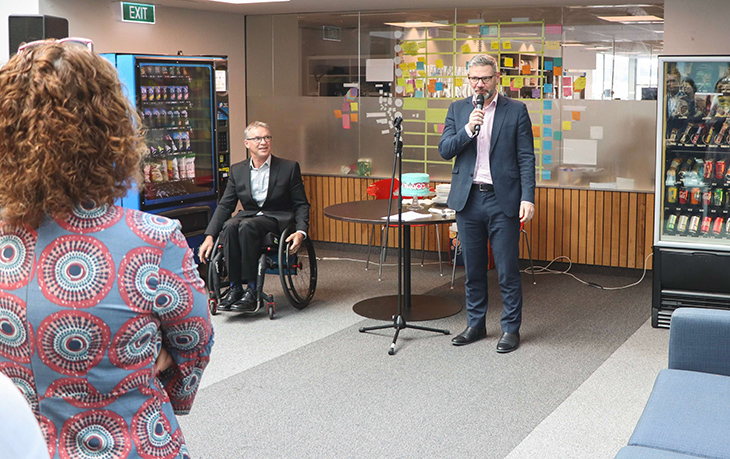 Hon Iain Lees-Galloway speaks at the launch