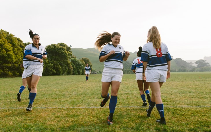 Womens rugby sprint