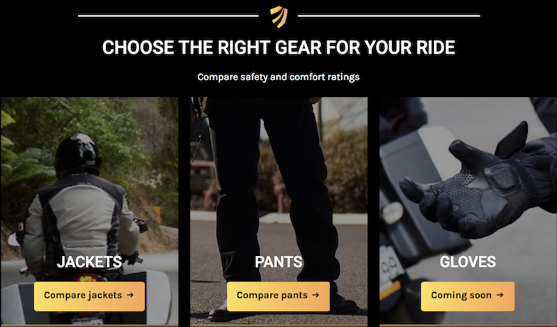 The MotoCAP website helps you decide which motorcycle gear is right for you.